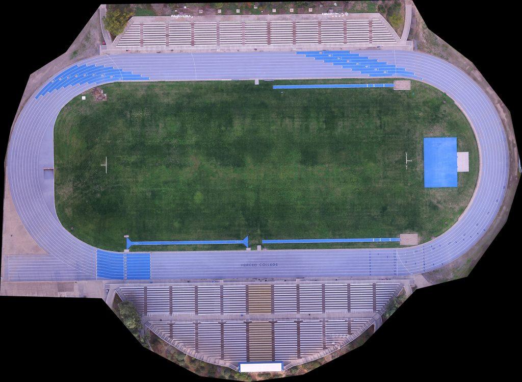 Merced College Stadium Orthomosaic Image